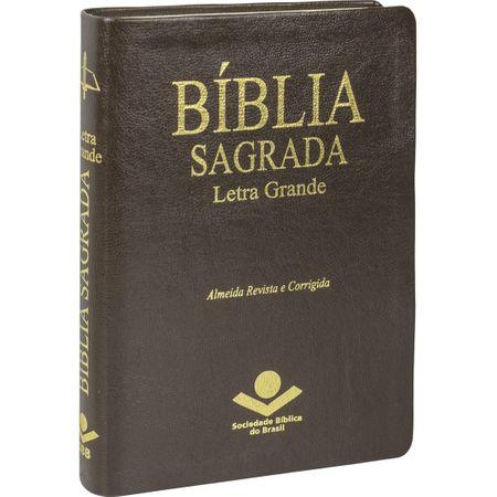 Bíblia Sagrada RC Letra Grande com Índice Marrom
