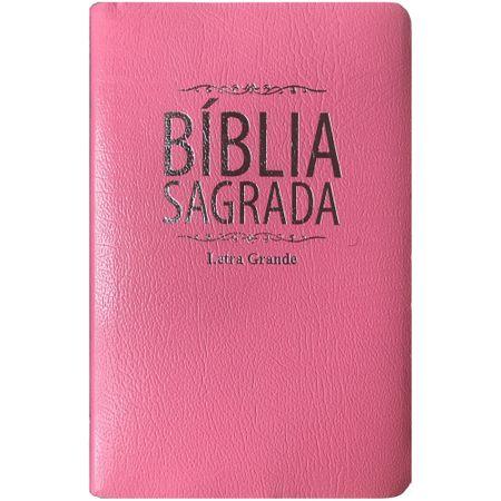 Bíblia Sagrada RC Letra Grande Corvetex Rosa