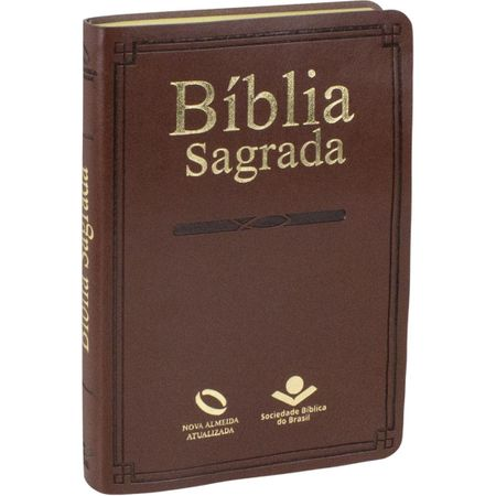 Bíblia Sagrada Slim NAA Marrom