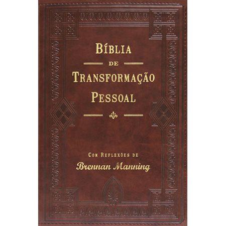 Bíblia Transformação Pessoal Couro Relevo