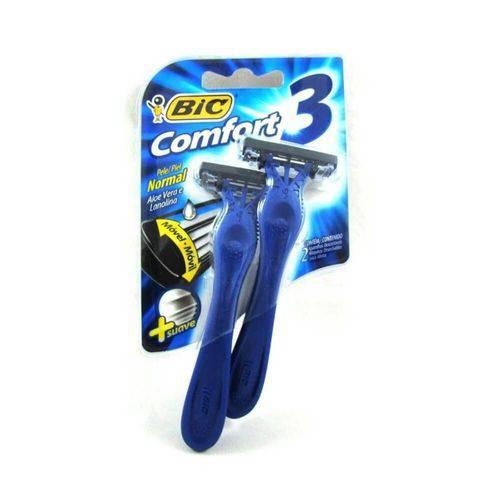 Bic Confort 3 Pele Normal Aparelho Azul C/2
