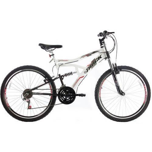 Bicicleta Adulto Aro 26 Boxxer Aço Mtb Suspensão Central 21 Marchas