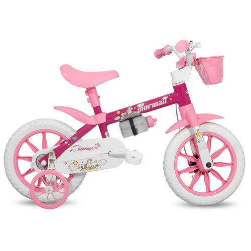 Bicicleta Aro 12 Infantil Feminina Penélope Mormaii