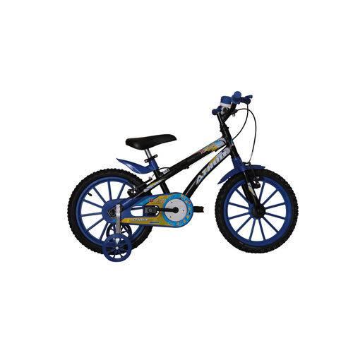 Bicicleta Aro 16 Baby Lux Masculina Preta/Azul Athor Bike