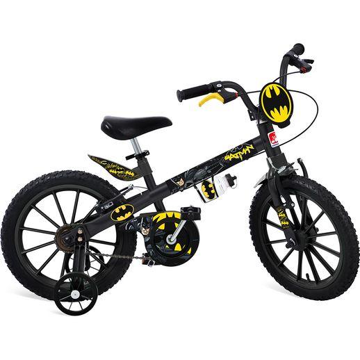 Bicicleta Aro 16 com Rodinhas Batman - Bandeirante