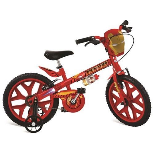 Bicicleta Aro 16 - Homem de Ferro - os Vingadores - Bandeirante - BANDEIRANTE