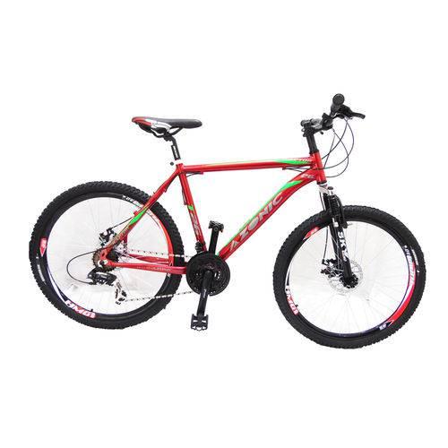 Bicicleta Aro 26 Azonic Mtb Raptor T-19 21v Dsc. Mec Verm