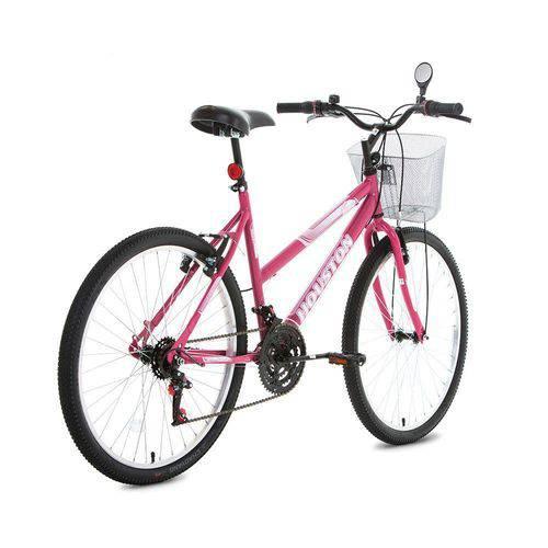 Bicicleta Aro 26 Foxer Maori Rosa Pink C/ Cesta - Houston