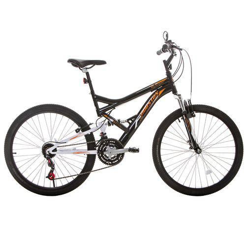 Bicicleta Aro 26 Houston Stinger com Suspensão 21 Marchas Preta