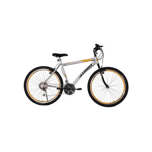 Bicicleta Aro 26 Mtb 18 Marchas Jet Branca/Amarelo Athor Bike