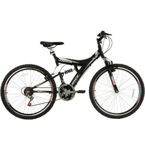 Bicicleta Aro 26 Mtb Tb300 Full Susp. Aero 18V Preto Fosco Track & Bikes