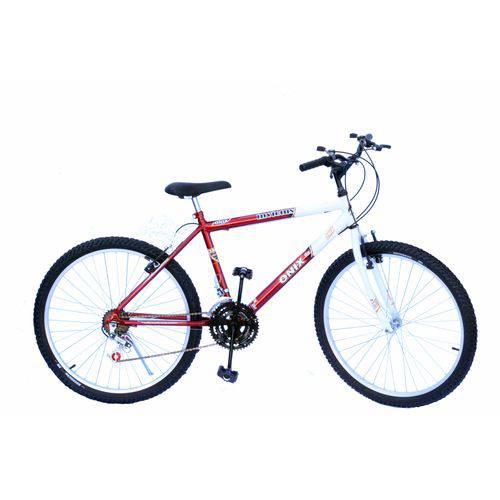 Bicicleta Aro 26 Onix Masc 18m Mtb Convencional Cor Vermelho