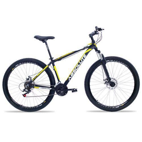 Bicicleta Aro 29 Absolute Nero Ll 21V Freio a Disco Relação Index Preto C/ Amar. T 15