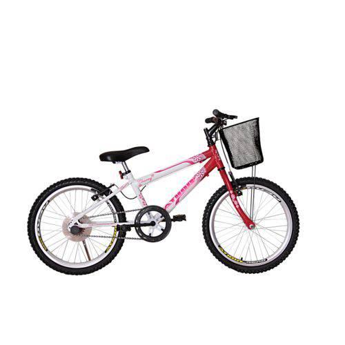 Bicicleta Athor Aro 20 Mtb S/m Charmy Feminino C/ Cestão - Vermelha