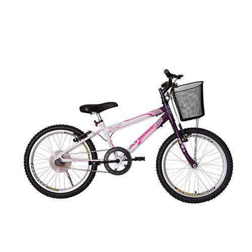 Bicicleta Athor Aro 20 Mtb S/m Charmy Feminino C/ Cestão - Violeta