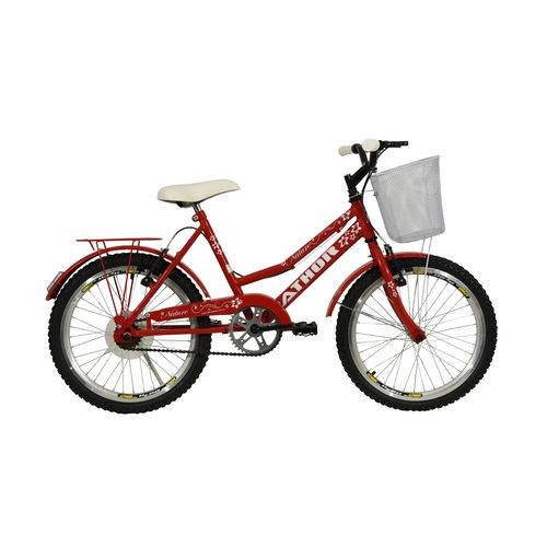 Bicicleta Athor Aro 20 Nature com Cesta Vermelha