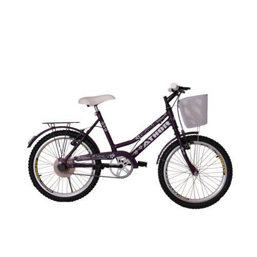 Bicicleta Athor Aro 20 Nature Feminino com Cestão - Violeta