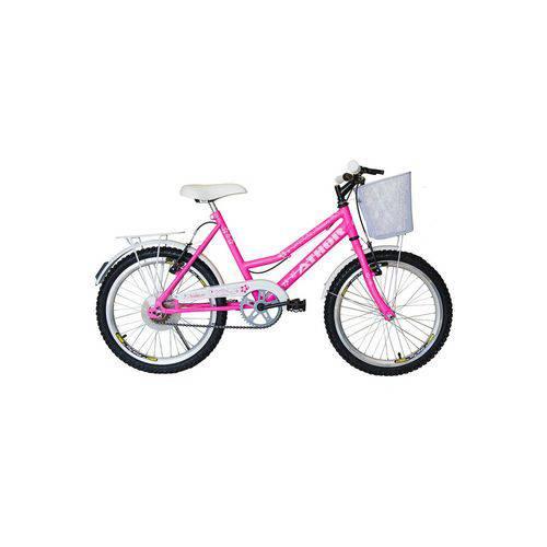 Bicicleta Athor Aro 20 Nature Rosa com Cesta