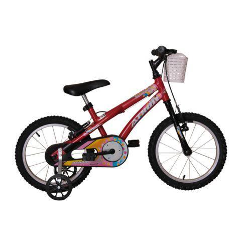 Bicicleta Athor Aro 16 Baby Girl Feminino com Cestinha Vermelha