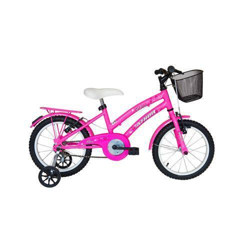 Bicicleta Athor Aro 16 Bliss Femnina C/ Cestinha Rosa