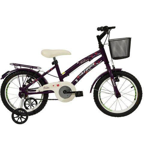 Bicicleta Athor Aro 16 Bliss Violeta com Cesta