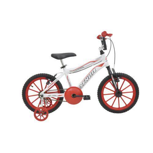 Bicicleta Athor Aro 16 Max Aluminio Masculino Branca com Kit Vermelho