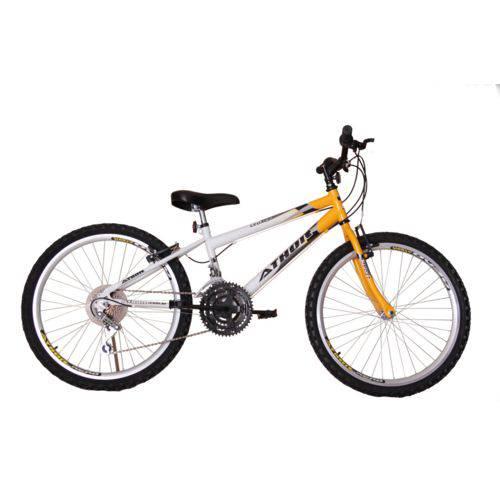 Bicicleta Athor Aro 24 Mtb 18/m Legacy Masculino Amarela