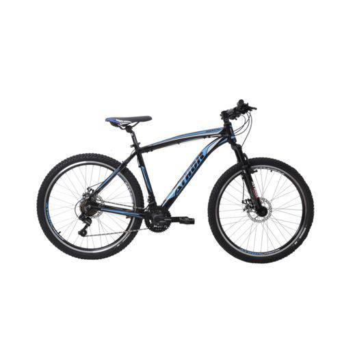 Bicicleta Athor Aro 26 Android 21v Shimano Tz Quadro Aluminio C/ Freio a Disco Preta C/ Azul