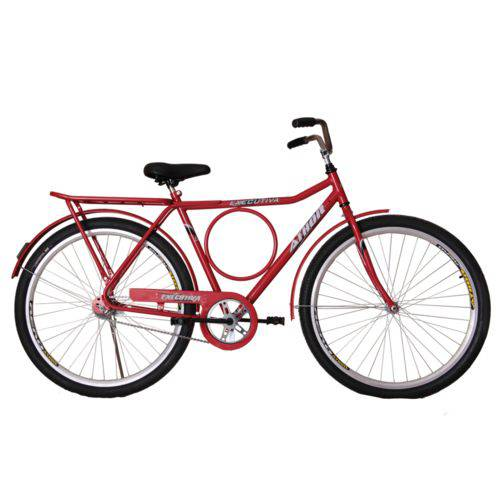 Bicicleta Athor Aro 26 Executiva Freio Contra Pedal Vermelha