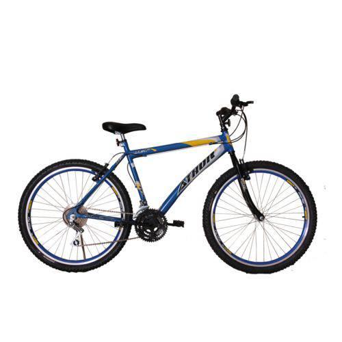 Bicicleta Athor Aro 26 Mtb 18/m Jet Azul C/ Adesivo Amarelo
