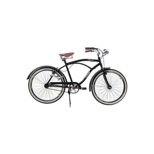 Bicicleta Athor Aro 26 Retrô com Paralamas Preta Preto Único