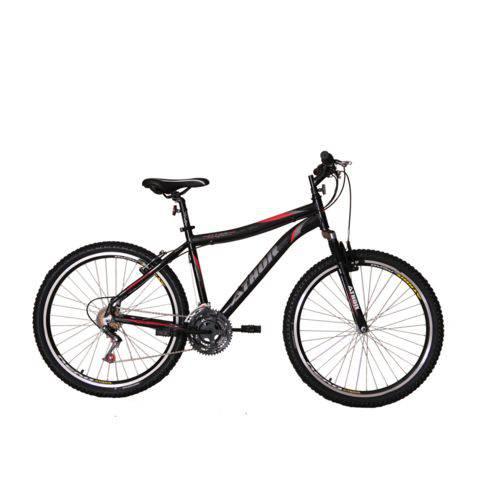 Bicicleta Athor Aro 26 Titan Aluminio 18V 45MM T-18 Freio V Brake Preta C/ SUSPENSÃO