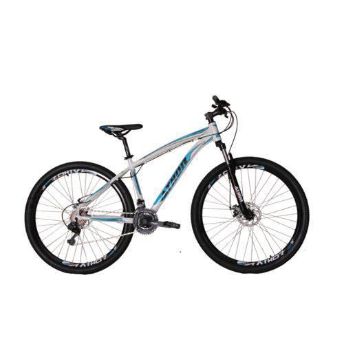 Bicicleta Athor Aro 29 Android 21V Shimano Tz Quadro Aluminio C/ Freio a Disco T-17 Branca C/ Azul