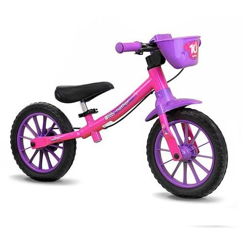 Bicicleta de Equilíbrio Balance Bike Rosa Nathor