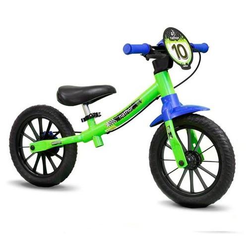 Bicicleta de Equilíbrio Balance Bike Verde Nathor