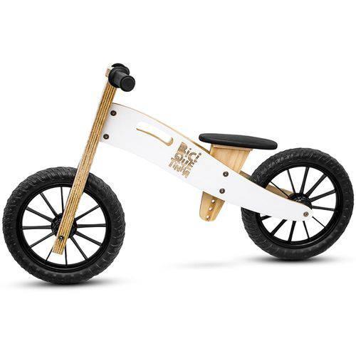 Bicicleta de Equilíbrio Branca Sem Pedal Neve Biciquetinha