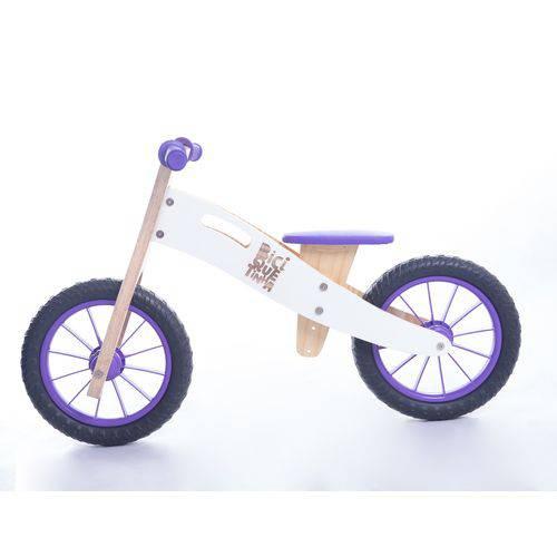 Bicicleta de Equilíbrio Sem Pedais BiciQuétinha Neve Roxa