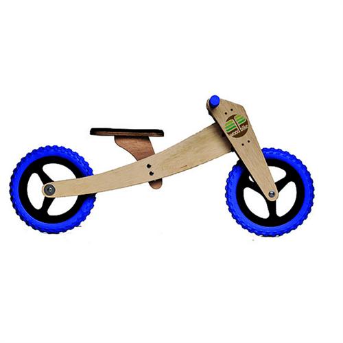 Bicicleta de Madeira: Woodbike Kit 2 em 1 - Azul