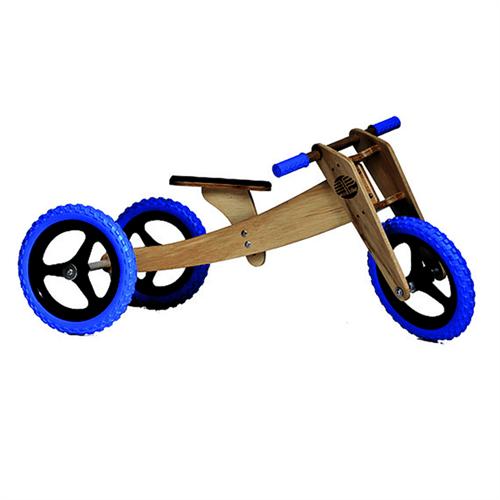 Bicicleta de Madeira: Woodbike Kit 3 em 1 - Azul