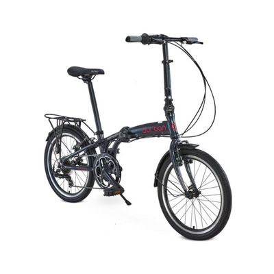 "Bicicleta Dobrável Durban Aro 20"" de 6 Velocidades Shimano e Quadro de Alumínio Sampa Pro Azul"