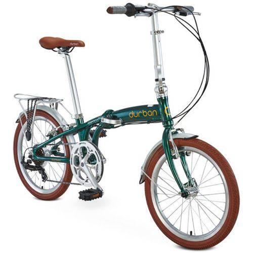 Bicicleta Durban Verde Dobrável 6 Marchas Sampa Pro