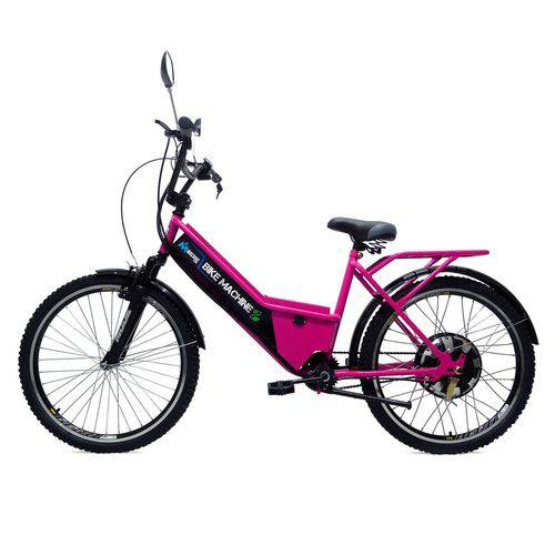 Bicicleta Elétrica Basic 800w 48v Rosa
