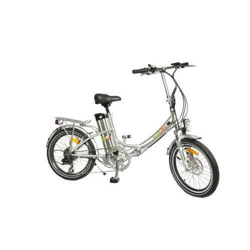Bicicleta Elétrica Biobike Dobrável Quadro em Alumínio - Modelo JS 20 - Prata