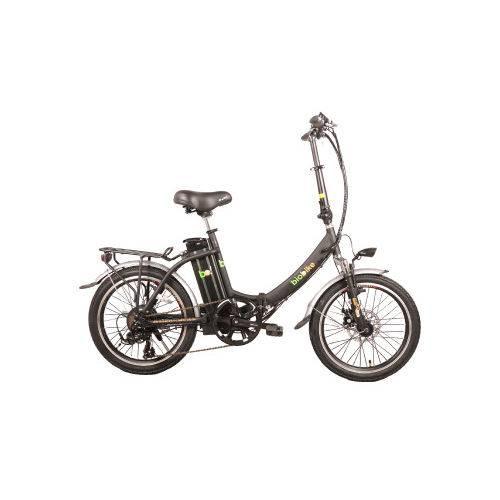 Bicicleta Elétrica Biobike, Dobrável, Quadro em Alumínio - Modelo JS 20 - Preta