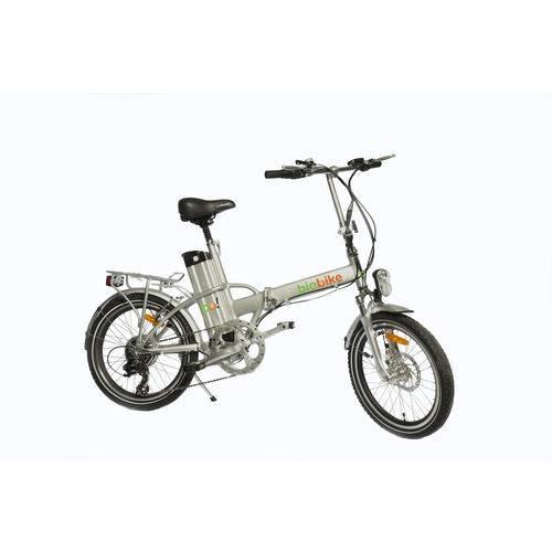 Bicicleta Elétrica Biobike, Dobrável, Quadro em Alumínio - Modelo JS 12 - Prata