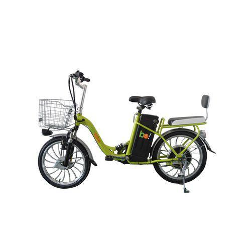 Bicicleta Elétrica Biobike, Quadro em Aço, Modelo URBANA | VERDE