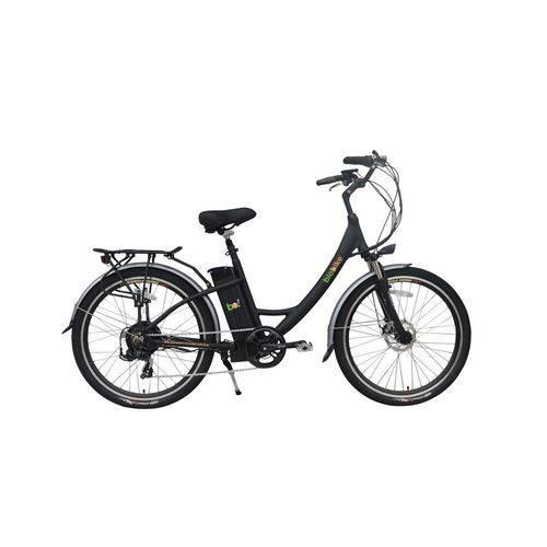 Bicicleta Elétrica Biobike, Quadro em Alumínio, Modelo STYLE-PRETA