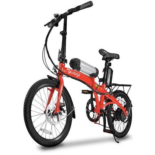 Bicicleta Elétrica Dobrável 250W Two Dogs Pliage Plus Cambio Shimano Vermelho