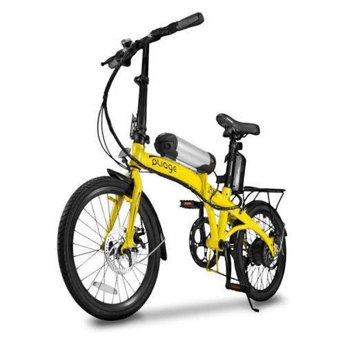 Bicicleta Elétrica Dobrável Two Dogs Pliage Amarela