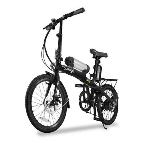 Bicicleta Elétrica Dobrável Two Dogs Pliage Preta